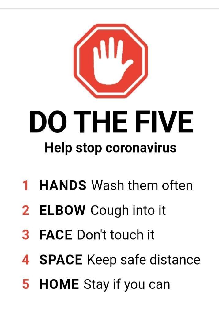 COVID Precautions do the five
