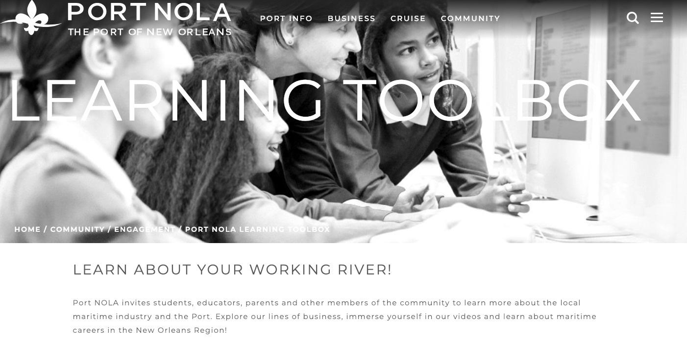 Port NOLA Learning Toolbox Photo