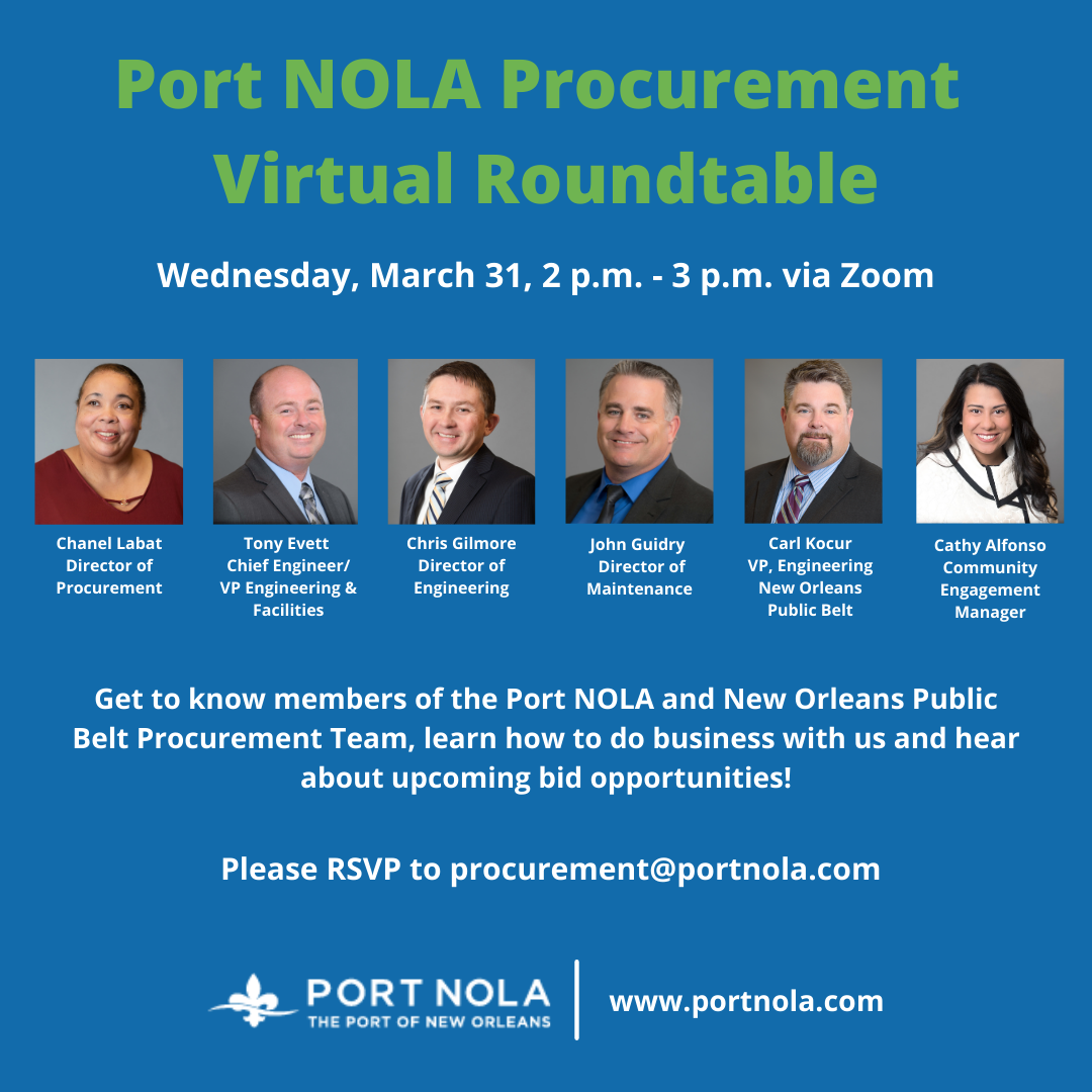 Port NOLA Procurement Roundtable MASTER
